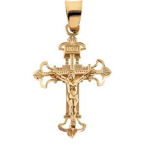 14k crucifix pendant 19x14 mm audiocablefo