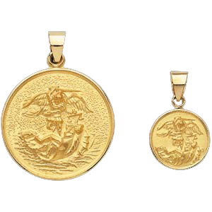 18k gold st michael medal mozeypictures Image collections