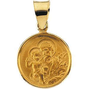 18K Gold St. Joseph Medal
