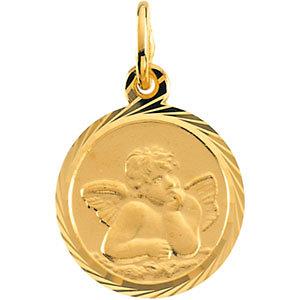 14K gold Angel medal