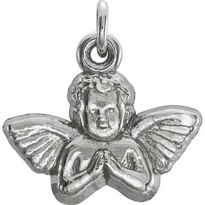 14k gold angel pendant 11x12 mm aloadofball Image collections