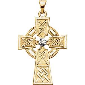 Diamond Celtic Cross Pendant 0.06ctw