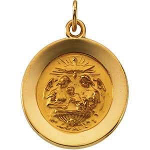 14K Gold Baptism Medal