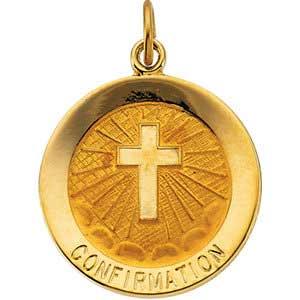 14K Gold Confirmation Medal