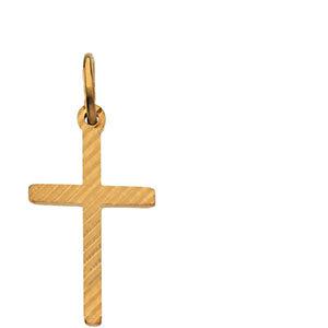 14K Gold Cross Pendant 15x10 mm