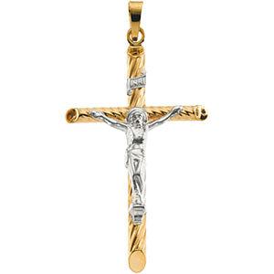 14K Gold Crucifix Hollow 28x18 mm