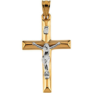 14K Gold Crucifix Hollow 25x17 mm