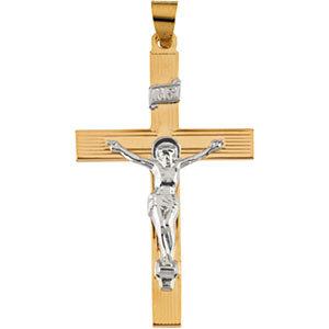 14K Gold Crucifix 29x19 mm