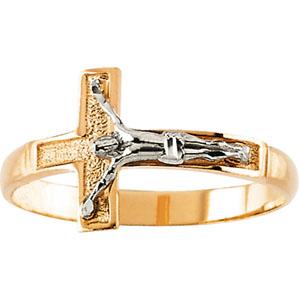 Gold Crucifix Ring Er43026