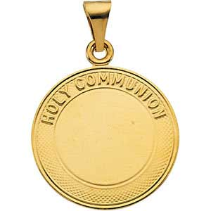 14K Gold First Holy Communion Medal 19 mm