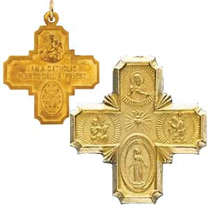 Gold Four Way Cross