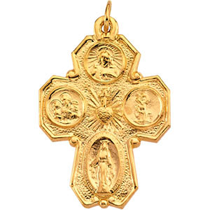 Gold Four Way Cross no inscription on back