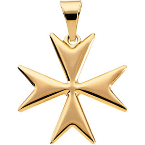 14k gold maltese cross pendant gold maltese cross pendant aloadofball Image collections