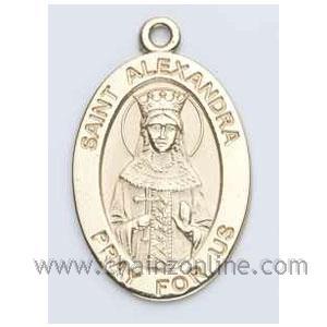 Gold St Alexandra Medal Oval