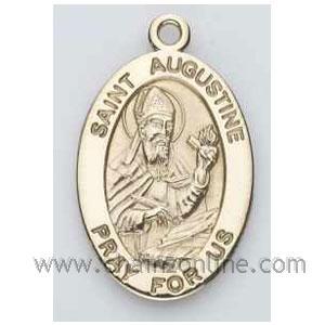 Gold St Augustine Medal Oval