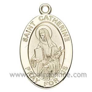 Gold St Catherine Medal Oval