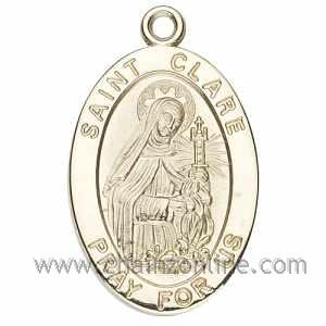 Gold St Clare Medal Oval