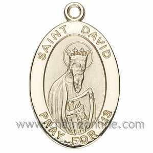 Gold St David Medal Oval