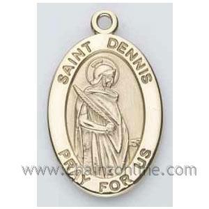 Gold St Dennis Medal Oval