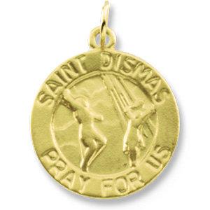 14K Gold St Dismas Medal