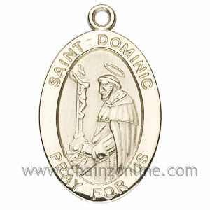 Gold St Dominic Medal Oval