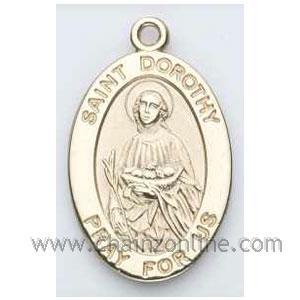 Gold St Dorothy Medal Oval