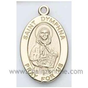 Gold St Dymphna Medal Oval