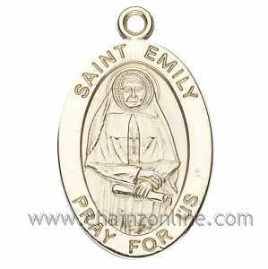 Gold St Emily Medal Oval