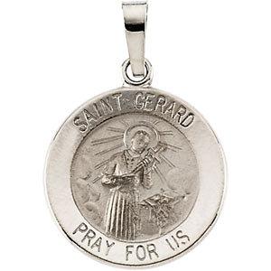14K Gold Gerard Medal White