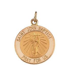 14K St John the Baptist Medal Round
