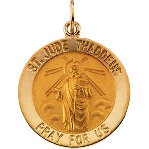 Gold St Jude Thaddeus Medal