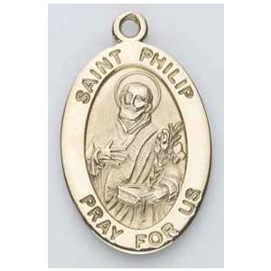 Gold St Philip Medal Oval