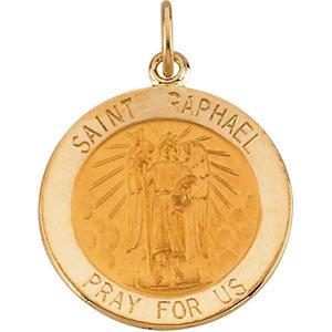 14K Gold St Raphael Medal Round