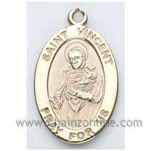 Gold St. Vincent de Paul Medal Oval