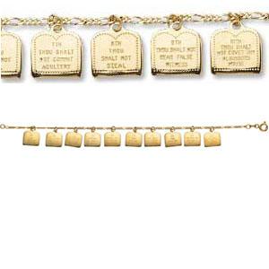 Gold Ten Commandments Bracelet