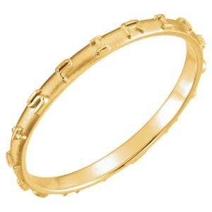 14K Gold Holy Spirit Prayer Ring