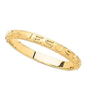 Gold What Would Jesus Do Prayer Ring