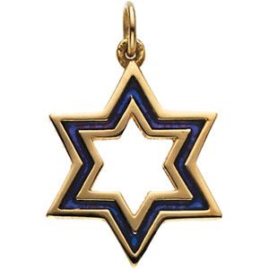 Jewelry 2018 >> 14K Gold Magen David Pendant 20.25x18 mm