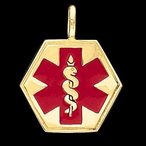 14k medical id pendant aloadofball Images