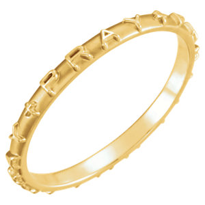 Gold Pray, Pray, Pray Prayer Ring