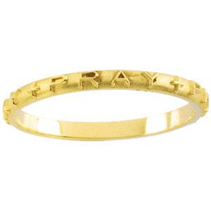 Gold Pray, Pray, Pray Prayer Ring