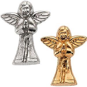 14K Praying Angel lapel pin