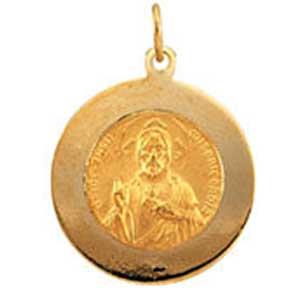 14K Gold Scapular Medal Back