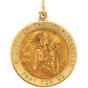 14K Gold Scapular Medal