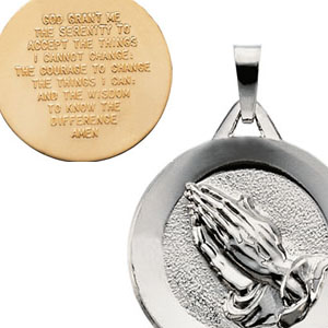 Gold serenity prayer pendant mozeypictures Gallery