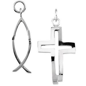 Silver Crossfish Pendant