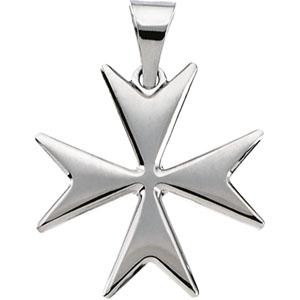Silver Maltese Cross Pendant
