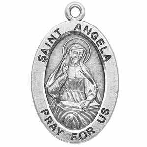 Silver St Angela Medal Oval