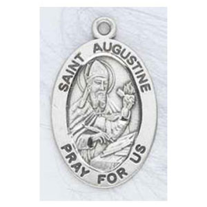 Silver St Augustine Medal Oval