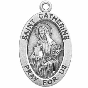 Silver St Catherine Medal Oval